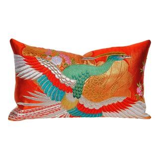 Vintage Japanese Silk Uchikake Wedding Kimono Custom Pillow For Sale