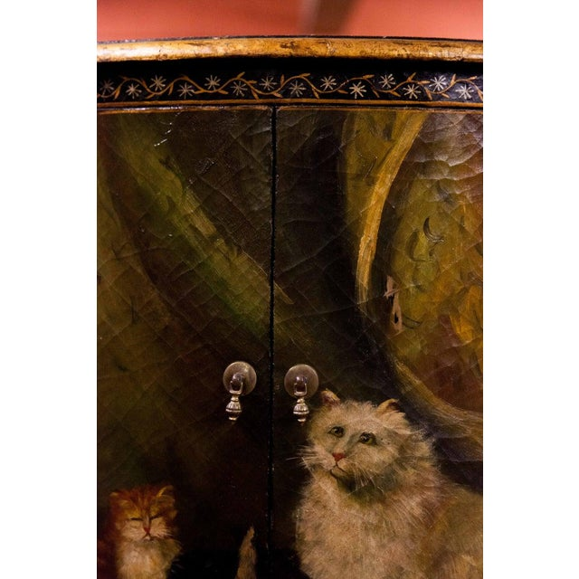 Canvas 19th Century Painted Corner Cupboard For Sale - Image 7 of 10