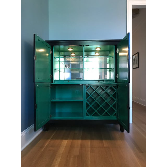 Currey & Co Sinclair Bar Cabinet For Sale - Image 5 of 5