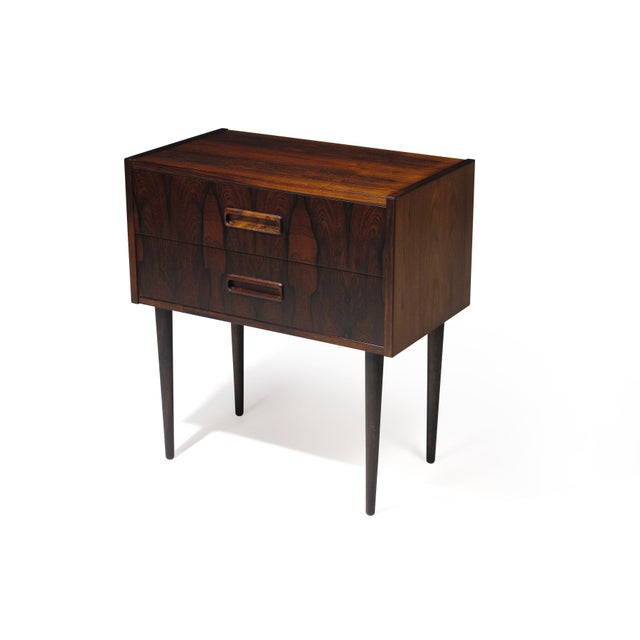 Danish Rosewood Nightstand Bedside Tables With Drawers - a Pair For Sale In San Francisco - Image 6 of 9