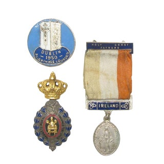 Collection of Irish & Belgian Medals S/3 For Sale