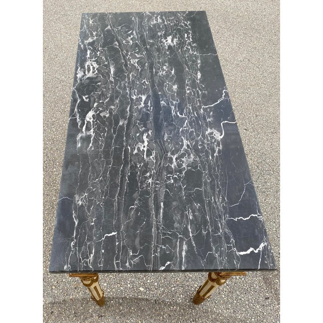 Italian Neoclassical Gilt-Wood Console, Marble Top For Sale - Image 4 of 9