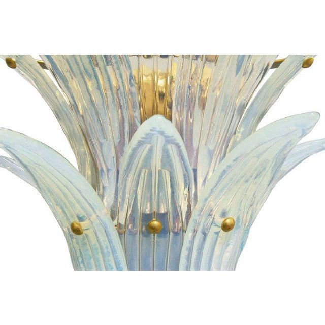 Gold Fabio Ltd. Opaline Palmette Sconces (2 Pairs Available) For Sale - Image 8 of 9