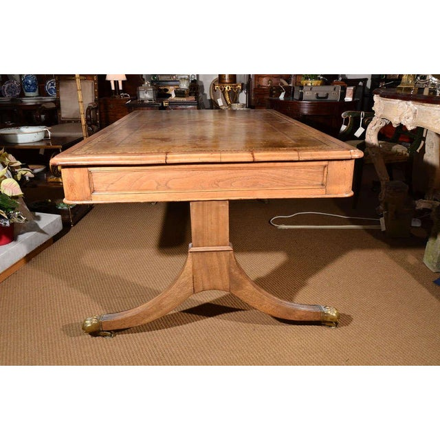 19th Century Georgian Revival Partner's Library Table For Sale - Image 4 of 8