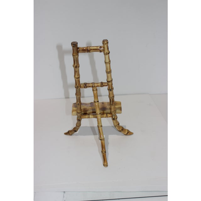 Vintage Handcrafted Tabletop Display Easel Lacquered Bamboo For Sale In West Palm - Image 6 of 12