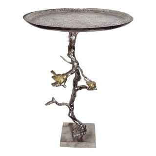 Tree Branch Table with Birds