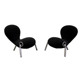 1990s Vintage Marc Newson for for Cappellini Embryo Lounge Chairs- A Pair For Sale