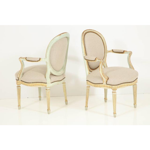 Pair of Louis XVI Style Fauteuils - Image 3 of 10