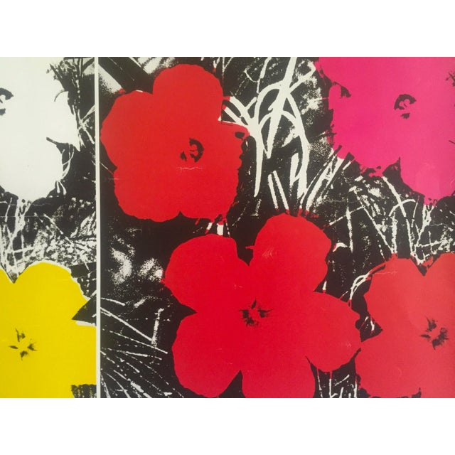 """Yellow Andy Warhol Foundation Vintage Pop Art Poster Print """" Flowers """" 1964 / 1967 For Sale - Image 8 of 13"""