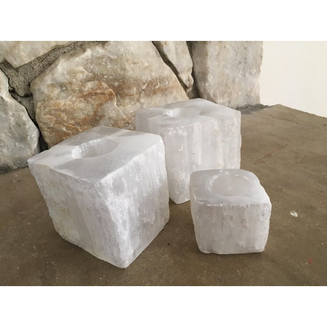 Solid Crystal Votive Holders - Set of 3 - Image 7 of 7