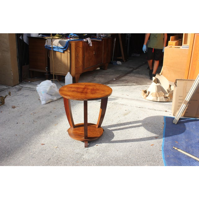 Beautiful French Art Deco Coffee Table or Side Table Exotic Walnut, circa 1940s For Sale In Miami - Image 6 of 10