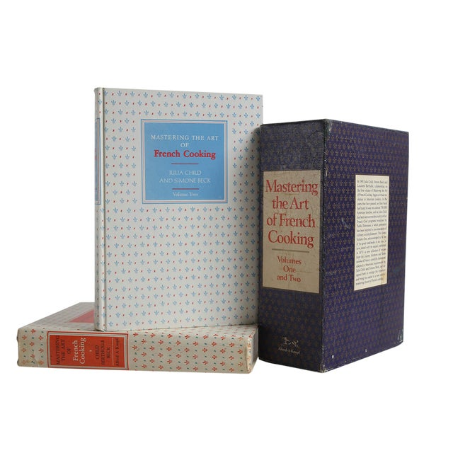 """1974 """"Mastering the Art of French Cooking Vols I & II in Slipcase"""" Coffee Table Book For Sale"""