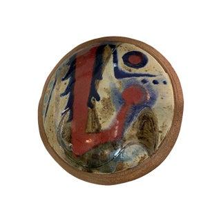 Ken Pick Abstract Glazed Pottery Vase, Signed For Sale