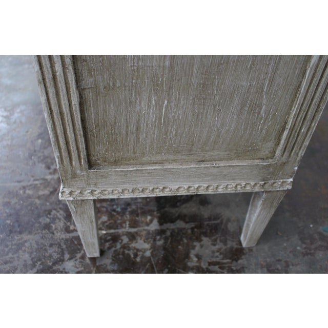 20th Century Vintage Swedish Gustavian Style Nightstands - a Pair For Sale - Image 11 of 12