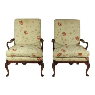 19th Century George II Style Arm Chairs - a Pair For Sale