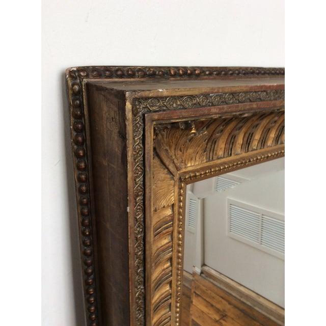 Antique Framed Carved Wood Mirror - Image 7 of 9