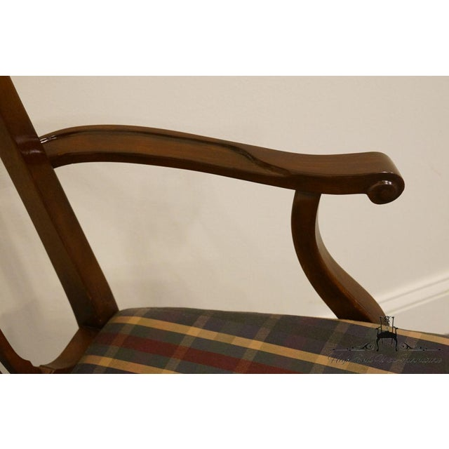 Brown Late 20th Century Drexel Heritage Chippendale Style Dining Chair For Sale - Image 8 of 13