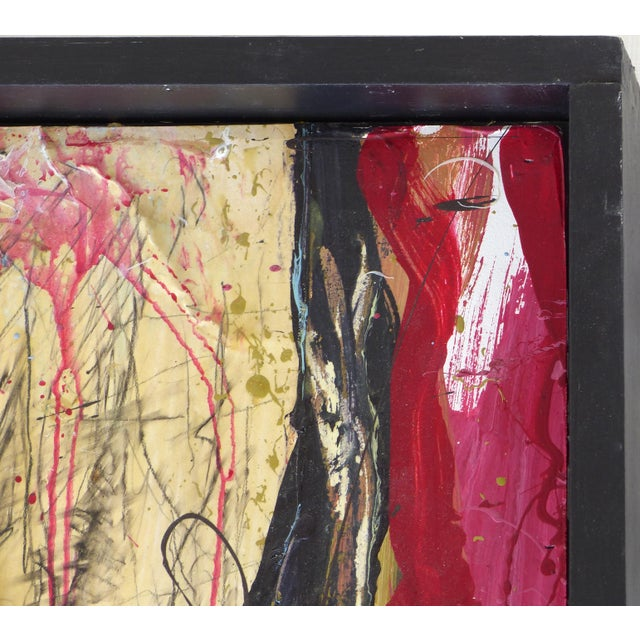 """William P. Montgomery Abstract Mixed Media Painting """"Swamp Talk 1/2"""", 2015 For Sale - Image 11 of 13"""