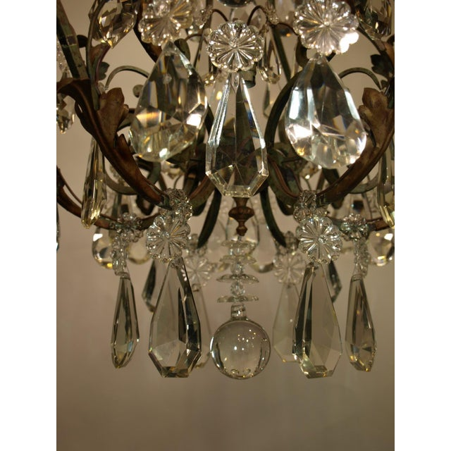 Antique Chandelier of Iron and Crystal - Image 5 of 6