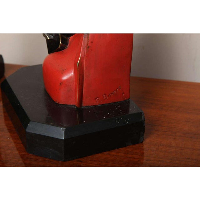1920s Beautiful Pair of Art Deco Cubist Bookends by Bouret For Sale - Image 5 of 10
