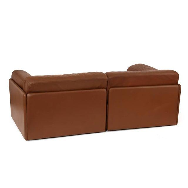 Mid-Century Modern 1970s Vintage De Sede Convertible Leather Sofa For Sale - Image 3 of 5