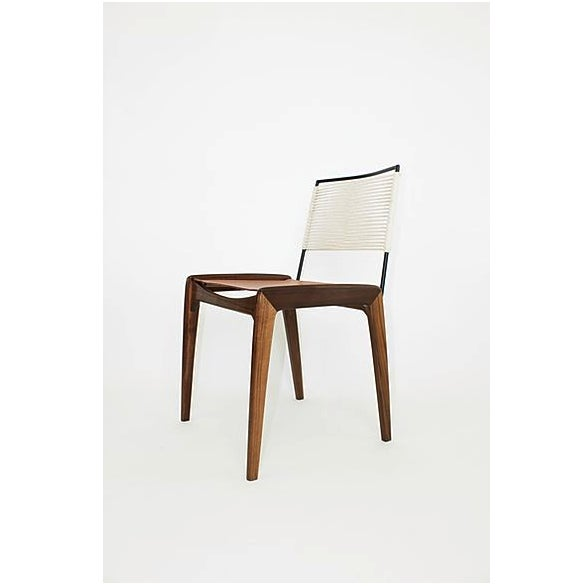 Contemporary Fluxco Design Ld3 White Sling Dining Chair For Sale - Image 3 of 3