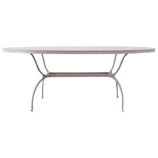 Brown Jordan Neoclassical Style Aluminum Patio Garden Table For Sale
