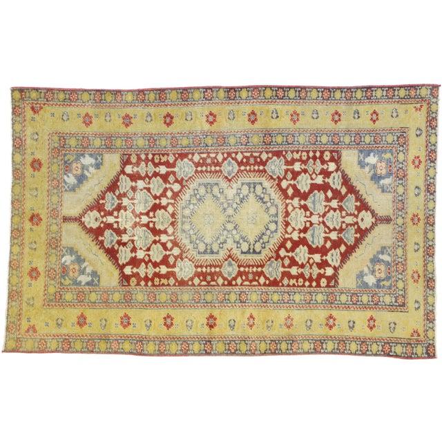 Vintage Turkish Oushak Rug - 3′10″ × 5′11″ For Sale - Image 9 of 10