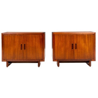 Pair of Frank Lloyd Wright Taliesin Small Cabinets For Sale