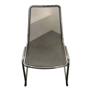 1980s Industrial B & B Italia Chrome Mesh Side Chair