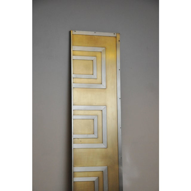 Metal Glamorous Bronze and Stainless Entry Doors For Sale - Image 7 of 8