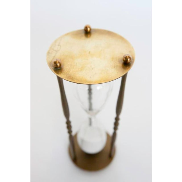 1940's English Hourglass with brass holder