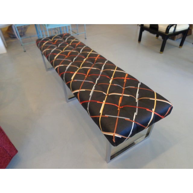 Long Chrome Bench - Image 6 of 6