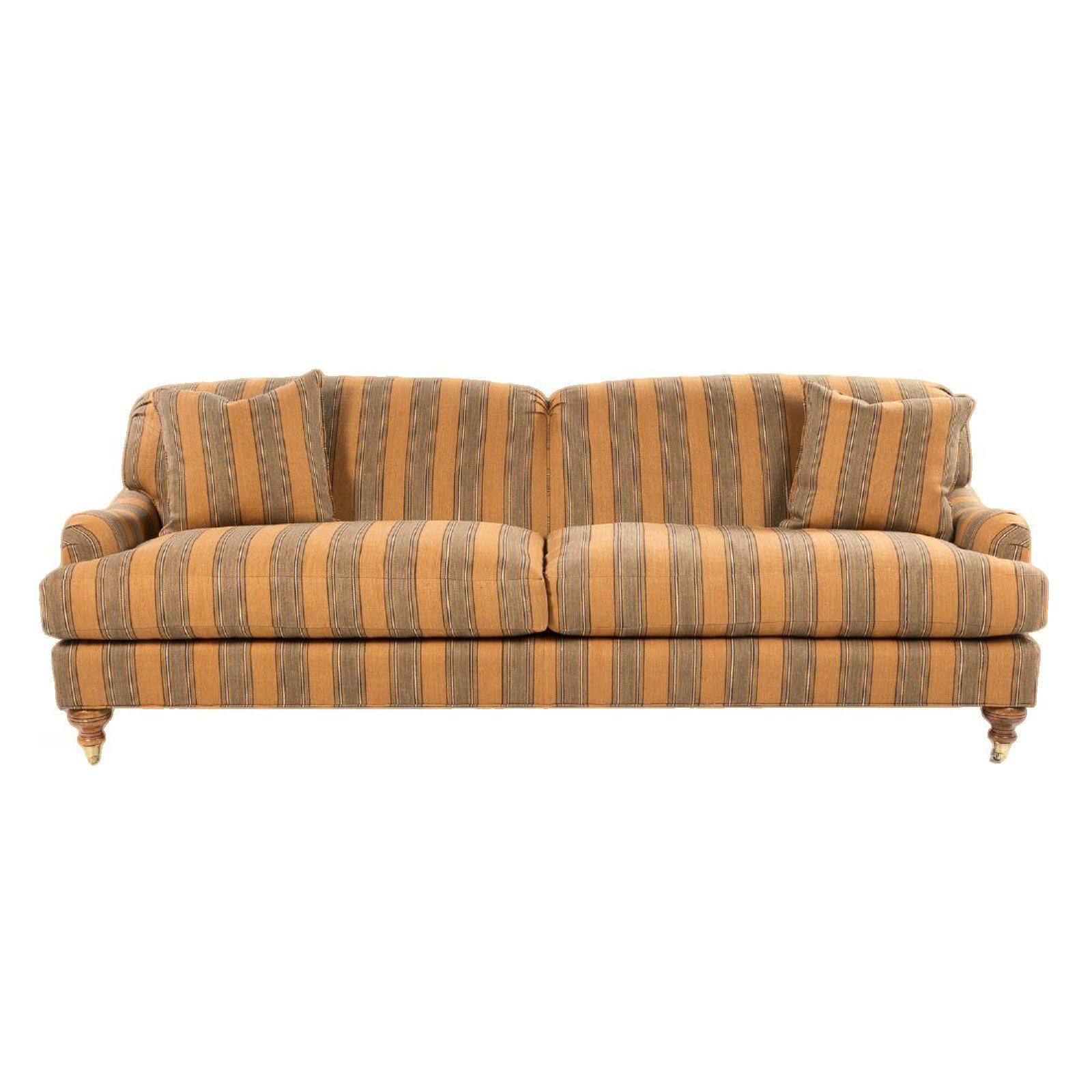 19th Century Art Deco Edwardian Sweetheart Herringbone Sofa