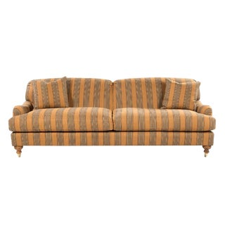 Last Call 19th Century Art Deco Edwardian Sweetheart Herringbone Sofa
