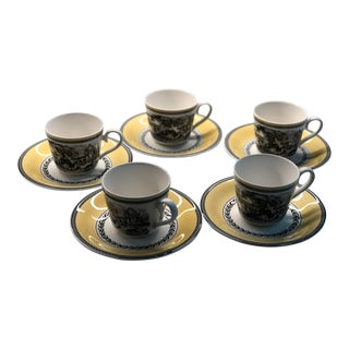Villeroy & Boch Audun Ferme Teacup and Saucer - Set of 10 For Sale