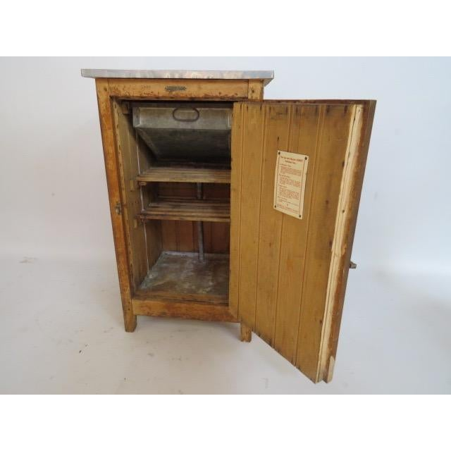 Country Vintage 1920s Oak Ice Box Refrigerator For Sale - Image 3 of 11