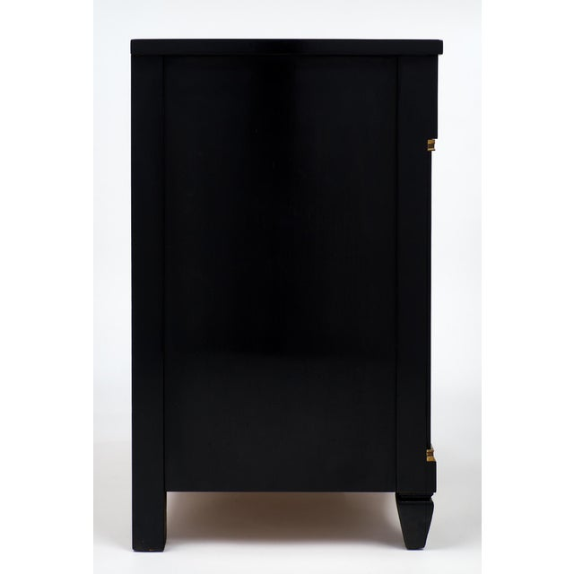 Ebonized French Art Deco Nightstands - a pair For Sale - Image 9 of 10