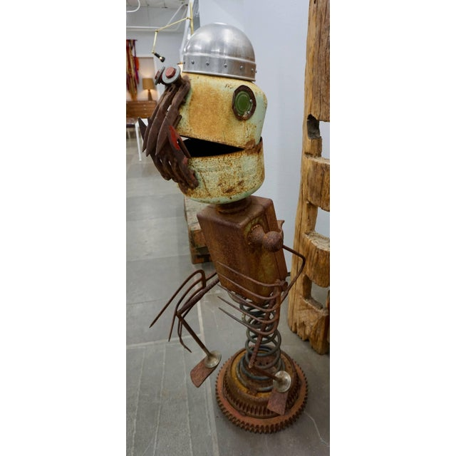 "Folk Art Funky ""Found Object"" Sculpture by James ""Pelon"" Bauer For Sale - Image 3 of 7"