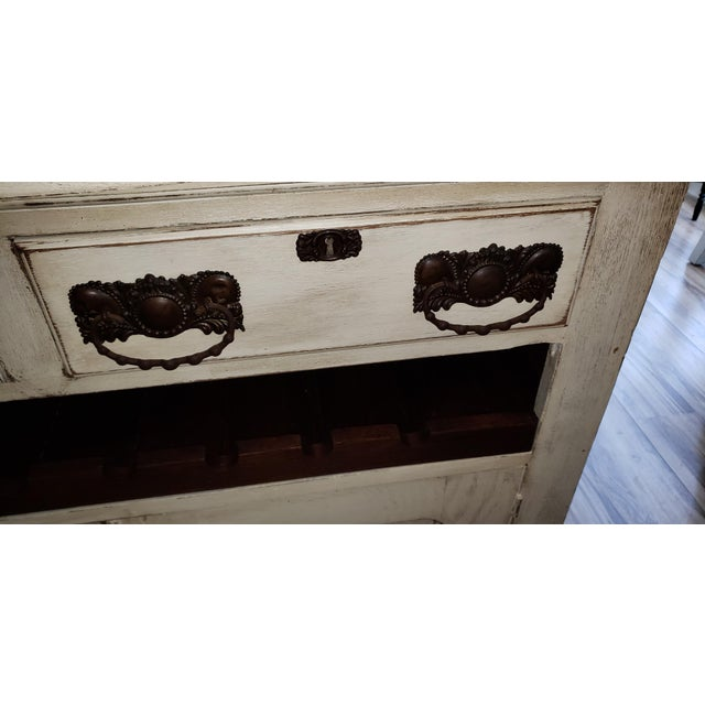 Circa 1880 Farmhouse Style Buffet With Wine Rack For Sale - Image 6 of 11