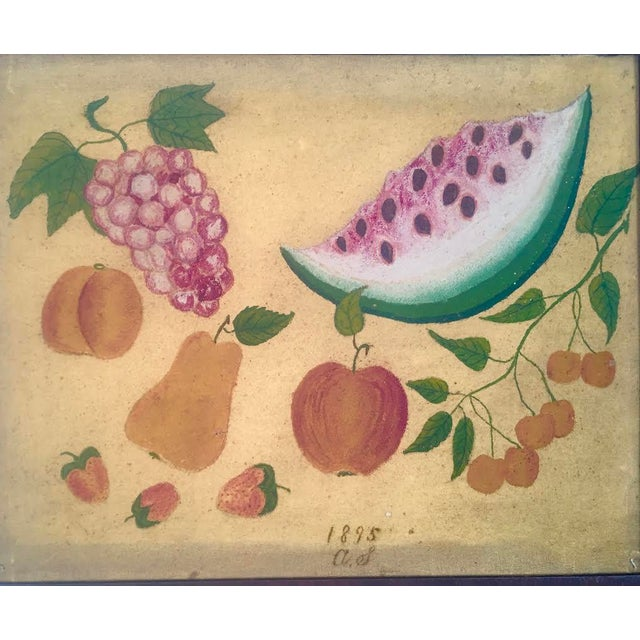 American Folk Art Fruit Still Life Painting, circa 1895 For Sale In Boston - Image 6 of 11