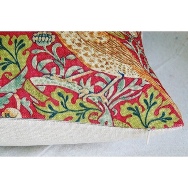 Custom Meadowlarks Linen Feather/Down Pillow - Image 4 of 5