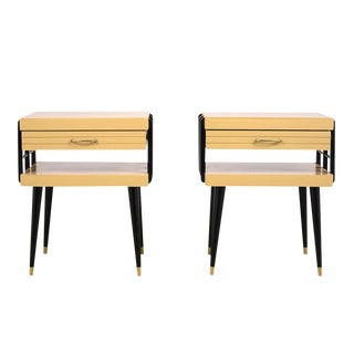 Pair of Modern Modernist Nightstands For Sale