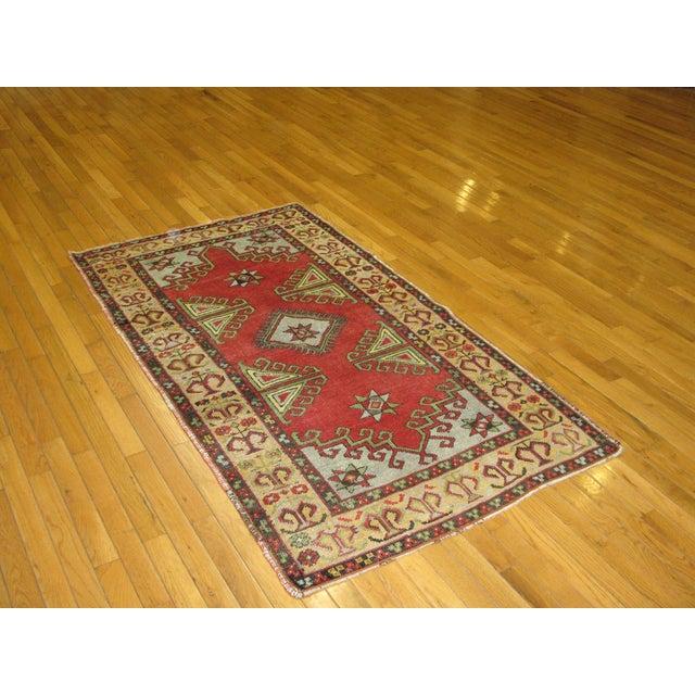 Vintage Handmade Tribal Rug - 3′2″ × 5′7″ For Sale In Atlanta - Image 6 of 6