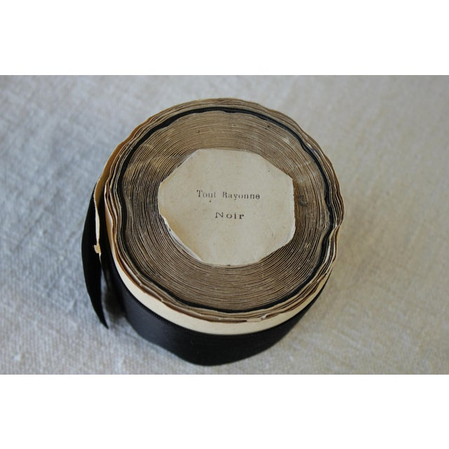 French Vintage Black Hat Ribbon Or Trim - 2 Inches Wide For Sale - Image 3 of 8