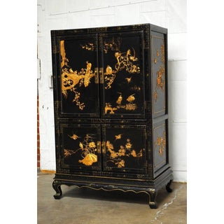 Chinese Export Gilt Lacquered Cabinet on Stand Preview
