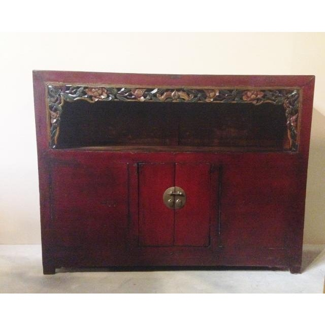 Antique Chinese Carved Shelf Sideboard For Sale - Image 9 of 11