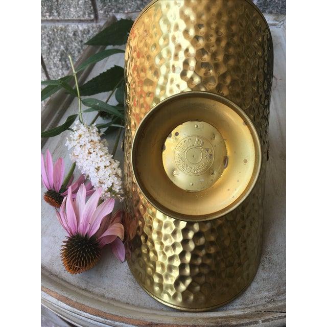 Hammered Brass Flower Basket - Image 5 of 8