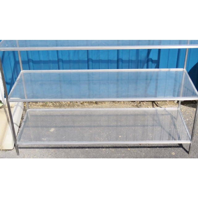 Mid-Century Modern Chrome & Lucite Etagere For Sale In San Francisco - Image 6 of 8