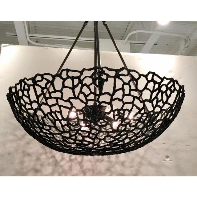 Original Retail $1690, stylish Regina Andrew Modern Brutalist Inspired Bronze Finished Jeff Chandelier, geometric design,...